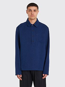 A.P.C. Haddock Pop Over Shirt Indigo