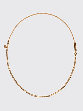 A.P.C. Mael Necklace Gold Tone