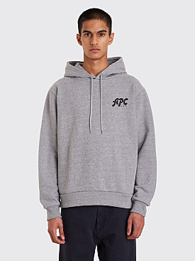 A.P.C. Michel Hooded Sweatshirt Grey