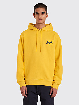 A.P.C. Keith Hooded Sweatshirt Mustard