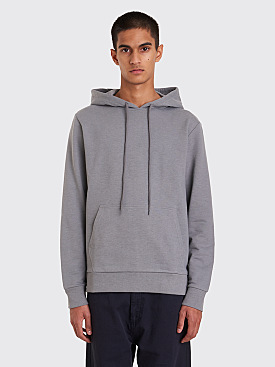 A.P.C. Stefen Hooded Sweatshirt Blue Grey