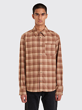 A.P.C. Attic Overshirt Iced Brown