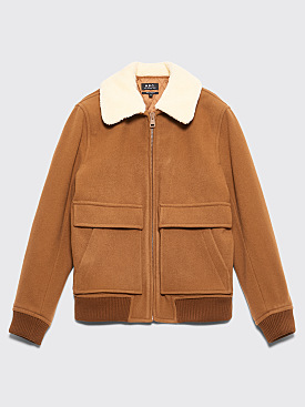 A.P.C. Bronze Jacket Brown