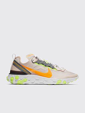 Nike React Element 87 Light Orewood Brown / Laser Orange