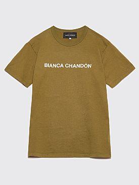 Bianca Chandôn Logotype T-Shirt Olive