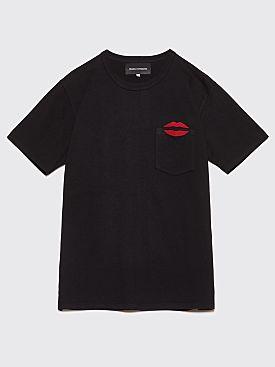 Bianca Chandôn NYC Lips Pocket T-Shirt Black