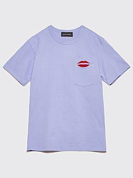 Bianca Chandôn NYC Lips Pocket T-Shirt Dusk