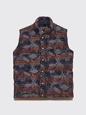 Bianca Chandôn English Wool Down Vest Multi Color