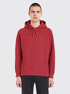 Bianca Chandôn Logotype Hooded Sweatshirt Brick