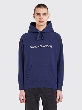 Bianca Chandôn Logotype Hooded Sweatshirt Navy