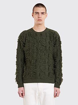 Bianca Chandôn Cut Float Jacquard Sweater Olive Green