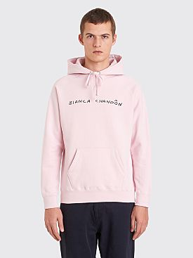 Bianca Chandôn Handwritten Logo Hooded Sweatshirt Sandstone