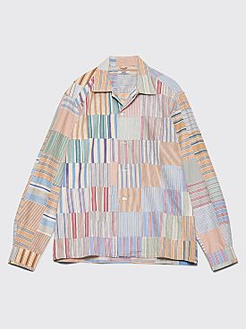 Bode 1930s Quilted Havana Shirt American Quilt Multi Color