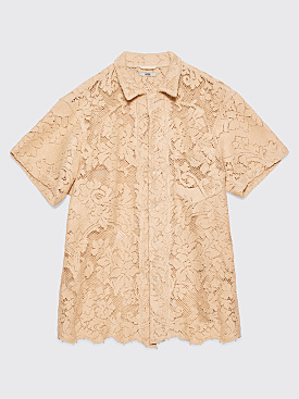 Bode Quaker Lace Bowling Shirt Off White