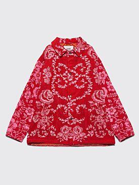 Bode Towel Workwear Jacket 2 Red