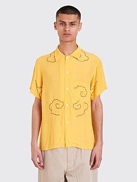 Bode Kimono Bowling Shirt Yellow