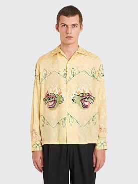 Bode Golden Dragon Havana Shirt Yellow