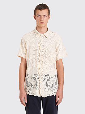 Bode Quaker Lace Bowling Shirt Ecru