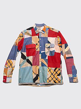 Bode Patchwork Havana Shirt Red
