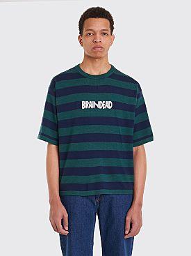 Brain Dead Short Sleeved Angora Logo Sweater Green