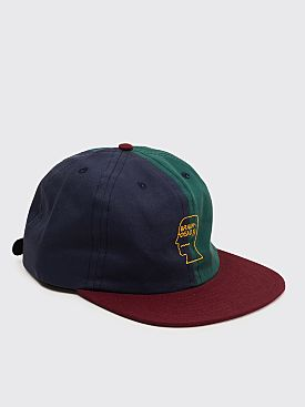 Brain Dead Split Color Logo Hat Navy / Green