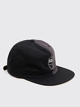 Brain Dead Split Color Logo Hat Black / Grey