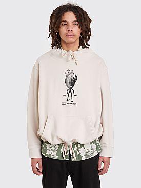 Brain Dead Mock Neck Sweatshirt Off White