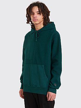 Brain Dead Paneled Hooded Sweatshirt Forest Green