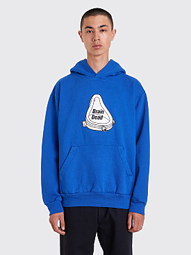 Brain Dead Urinal Hooded Sweatshirt Blue