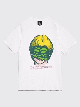 Brain Dead Slime Face T-Shirt White