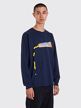 Brain Dead Ooze Long Sleeve T-Shirt Navy