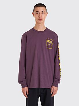 Brain Dead x Converse Long Sleeve T-shirt Purple