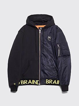 Brain Dead x Converse Hooded Bomber Jacket Black