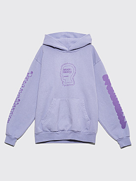 Brain Dead Psycho Hippie Hoodie Washed Blueberry