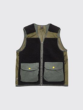 Brain Dead Fisherman's Vest Olive / Black