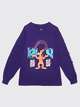 Brain Dead Human Being Long Sleeve T-shirt Purple