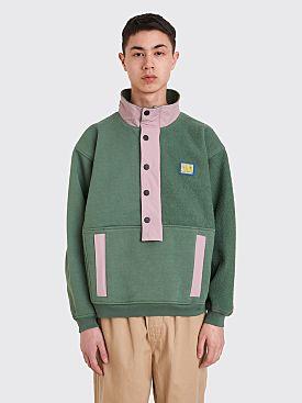Brain Dead Mock Neck Pullover Sweatshirt Green