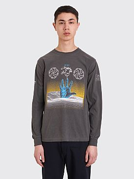 Brain Dead Chaos Long Sleeve T-shirt Charcoal
