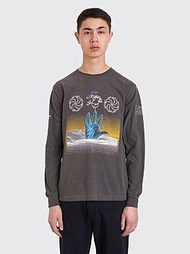 Brain Dead Chaos Long Sleeve T-shirt Charcoal