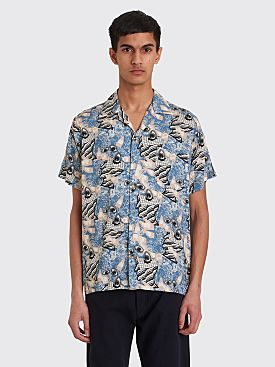 Brain Dead Hawaiian Shirt Surreal Blue