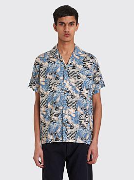 Brain Dead Hawaiian Shirt Surreal Blue