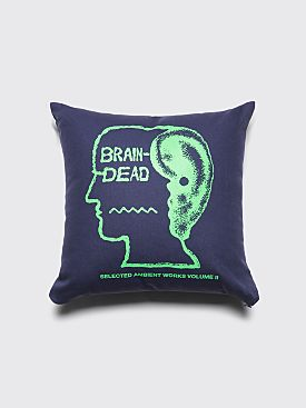 Brain Dead Ambient Pillow Navy
