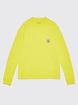 Brain Dead x Carhartt WIP Swan LS Pocket T-Shirt Lime
