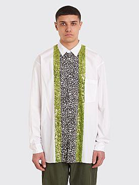 Comme des Garçons Homme Plus Sequin Panel Oversized Shirt White