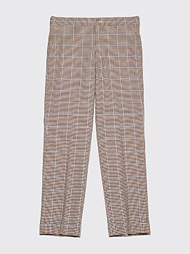 Comme des Garçons Homme Plus Checkered Trousers Brown
