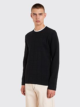 Comme des Garçons Homme Plus Checkered Knit Sweater Black