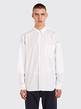 Comme des Garçons Homme Plus Faux Fur Patch Shirt White