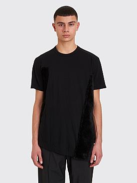Comme des Garçons Homme Plus Plush Panel T-shirt Black