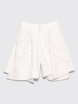 Comme des Garçons Homme Plus Wide Plush Panel Shorts White