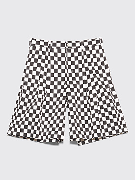 Comme des Garçons Homme Plus Wide Shorts Checkered Black / White